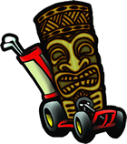 tiki action park cart logo