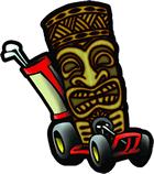 tiki action park cart logo