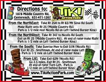 Tiki Action Park Go-Kart Direction Cards