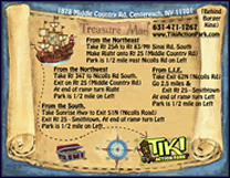 Tiki Action Park Pirate Direction Cards