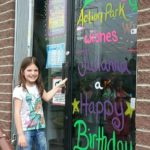 Birthday Greeting on Front Door