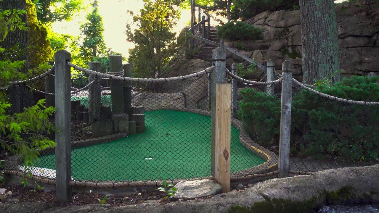 This is a short video of Tiki Action Park's mini golf attraction.