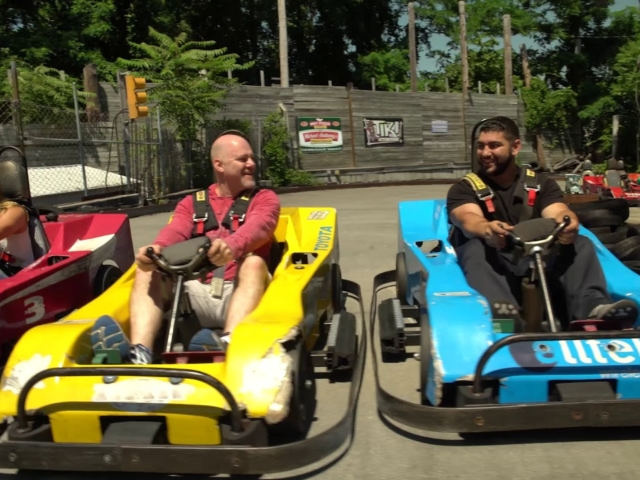This is a short video of Tiki Action Park's go-karts attraction.